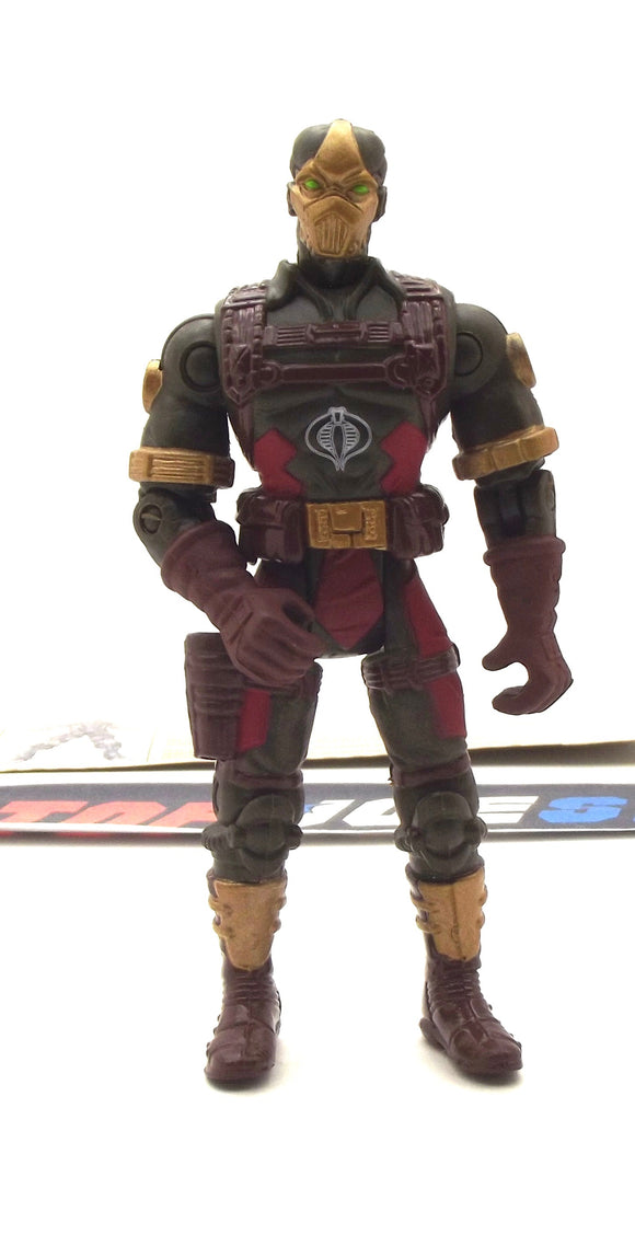 2002 GVC G.I. JOE COBRA C.L.A.W.S. CLAWS V2 HEAVY WEAPONS TROOPER LOOSE 100% COMPLETE + F/C