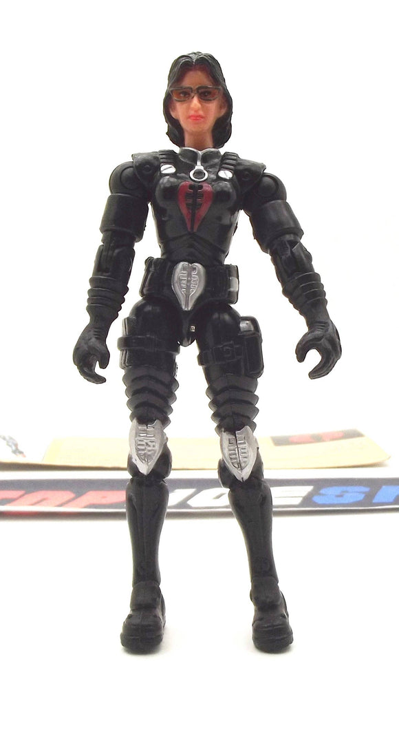 2002 GVC G.I. JOE COBRA BARONESS V4 INTELLIGENCE OFFICER LOOSE 100% COMPLETE + F/C