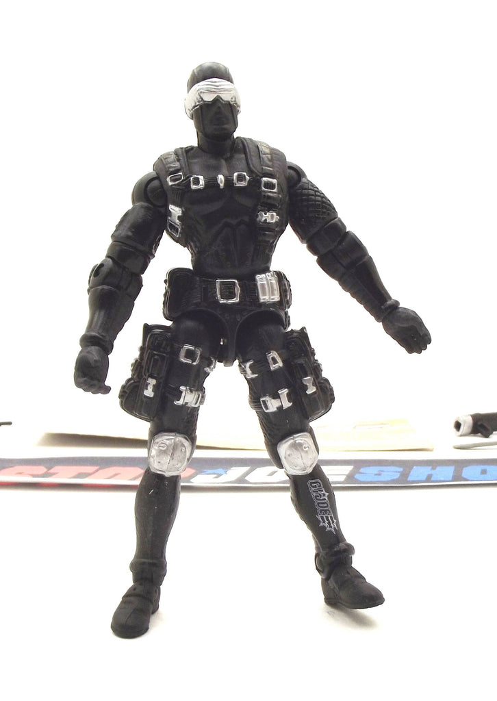 2002 GVC G.I. JOE SNAKE EYES V14 COMMANDO LOOSE 100% COMPLETE + F/C