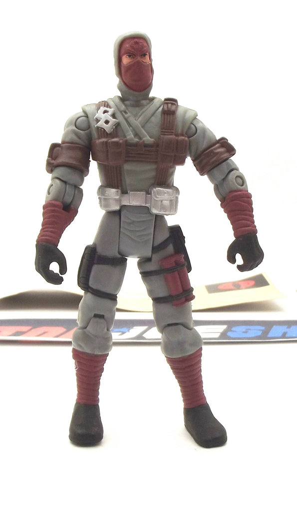 2002 GVC G.I. JOE COBRA STORM SHADOW V8 NINJA LEADER LOOSE 100% COMPLETE + F/C