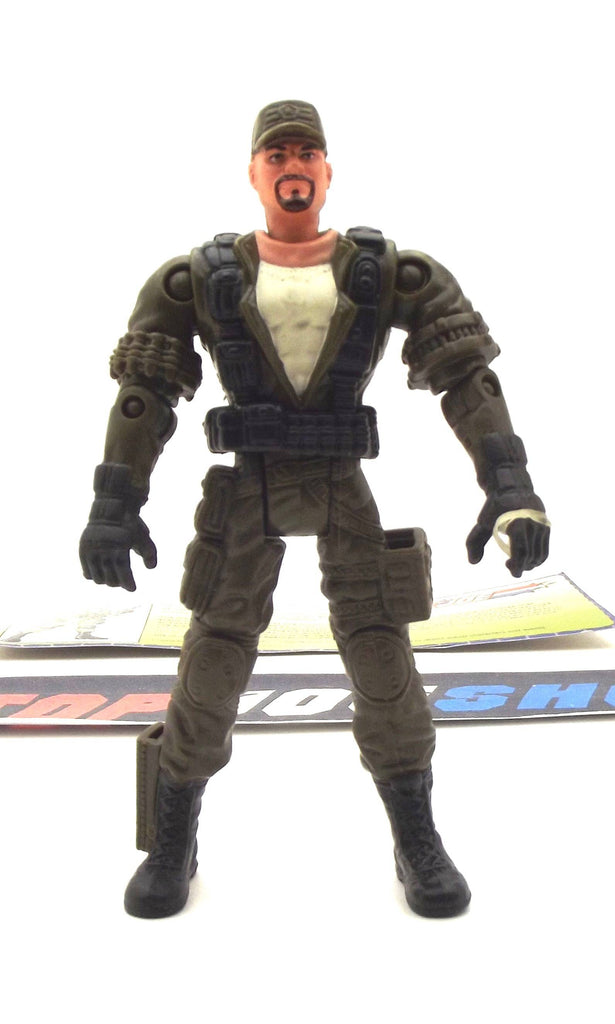 2002 GVC G.I. JOE GUNG HO V10 MARINE RECON COMMANDER ASSAULT QUAD DRIVER LOOSE 100% COMPLETE + F/C