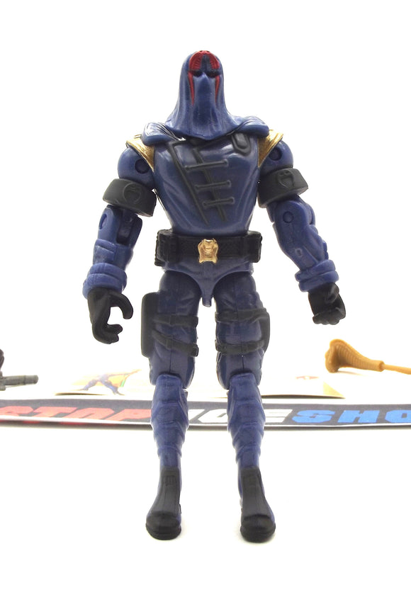 2003 GVC G.I. JOE COBRA COMMANDER V13 SPY TROOPS SUPREME COBRA LEADER MISSION DISC PACK LOOSE 100% COMPLETE + F/C