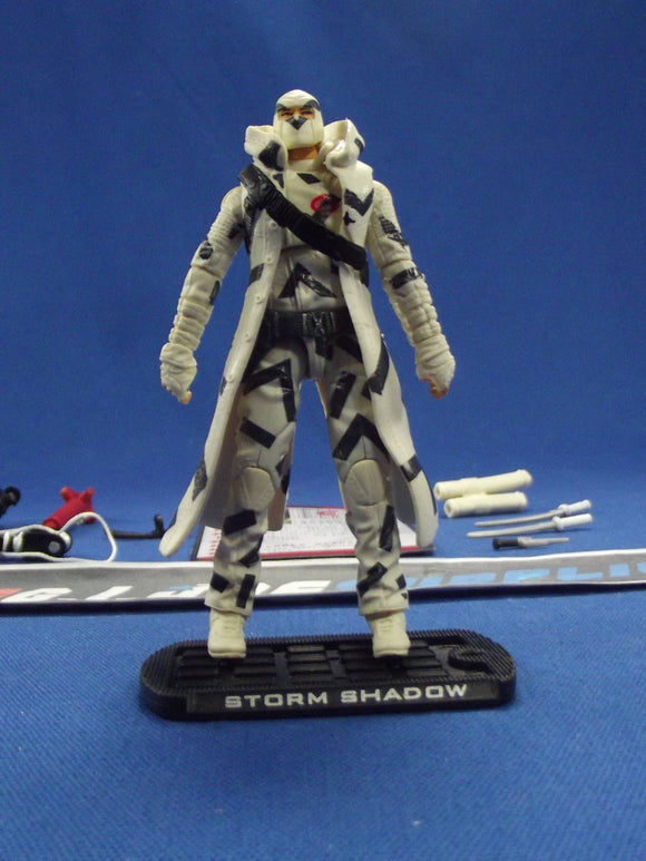 2009 ROC G.I. JOE COBRA STORM SHADOW V36 ARCTIC THREAT LOOSE 100% COMPLETE + F/C