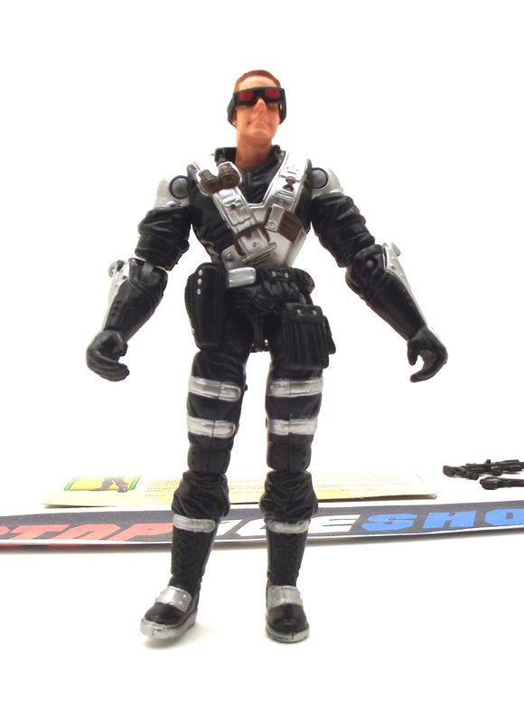 2003 GVC G.I. JOE COBRA BLACK OUT V1 SPY TROOPS SNIPER LOOSE 100% COMPLETE + F/C