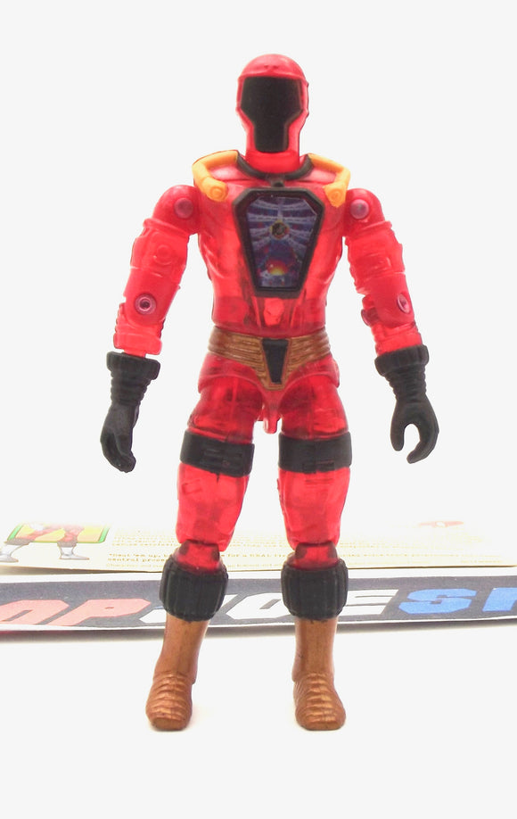 2003 GVC G.I. JOE COBRA INFERNO B.A.T. BAT V1 BATTLE ANDROID TROOPER INTERNET EXCLUSIVE TROOP BUILDER SET LOOSE 100% COMPLETE + F/C