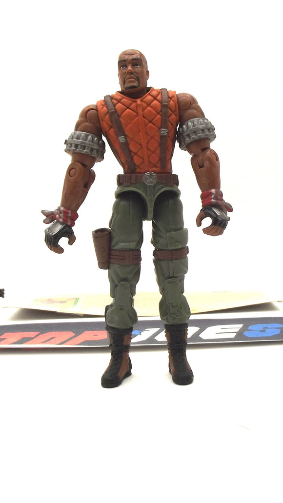 2003 GVC G.I. JOE ROADBLOCK V9 SPY TROOPS HEAVY MACHINE GUNNER LOOSE 100% COMPLETE + F/C SHORT NECK VARIANT