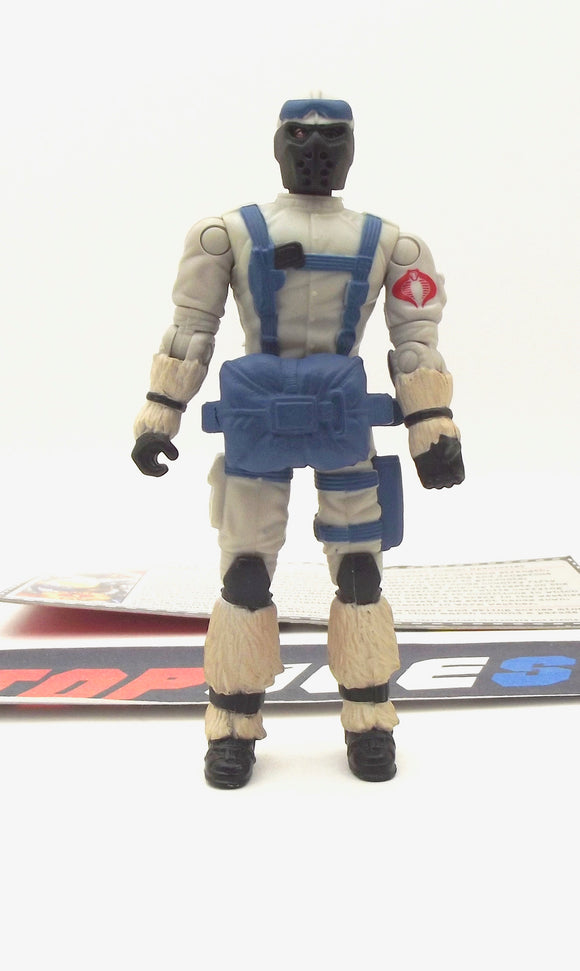 2005 DTC G.I. JOE COBRA SNOW SERPENT V7 POLAR ASSAULT TROOPER LOOSE 100% COMPLETE + F/C