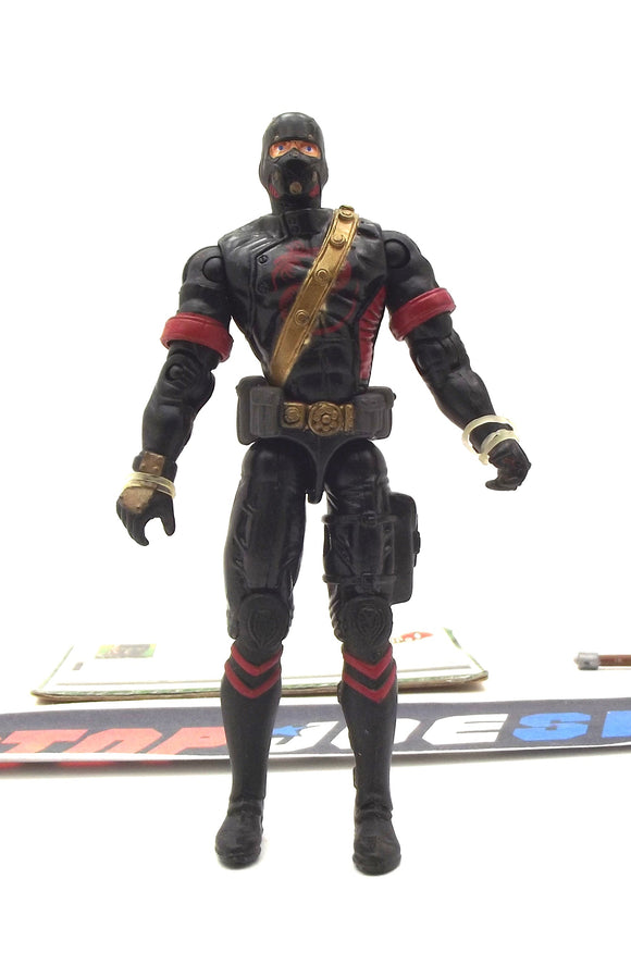 2005 VVV G.I. JOE COBRA BLACK DRAGON NINJA V2 NINJA WARRIOR LOOSE 100% COMPLETE + F/C