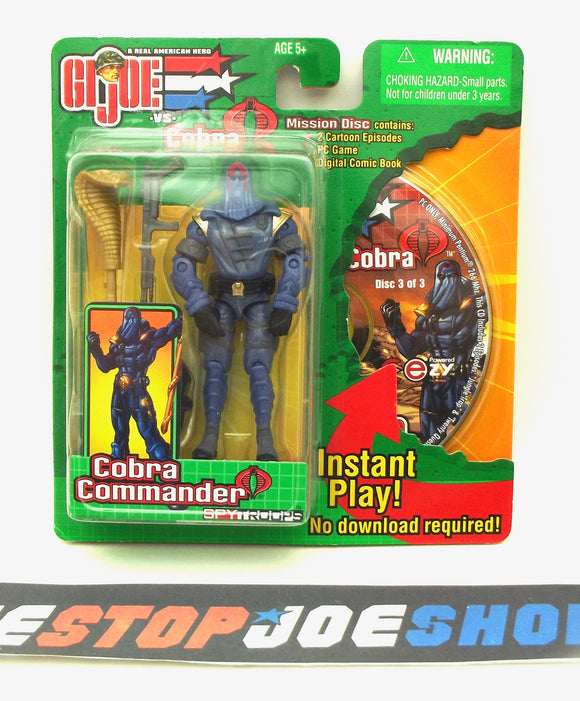 2003 GVC G.I. JOE COBRA COMMANDER V13 SPY TROOPS SUPREME COBRA LEADER MISSION DISC PACK NEW SEALED