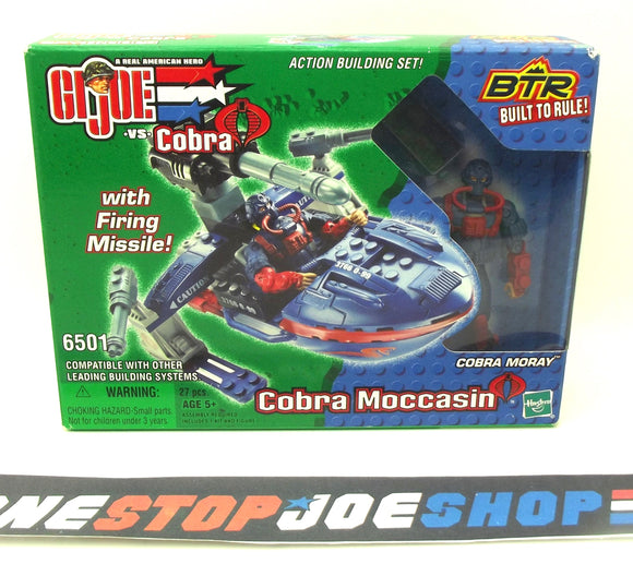 2003 BTR G.I. JOE COBRA MOCCASIN W/ COBRA MORAY V1 NEW SEALED (a)