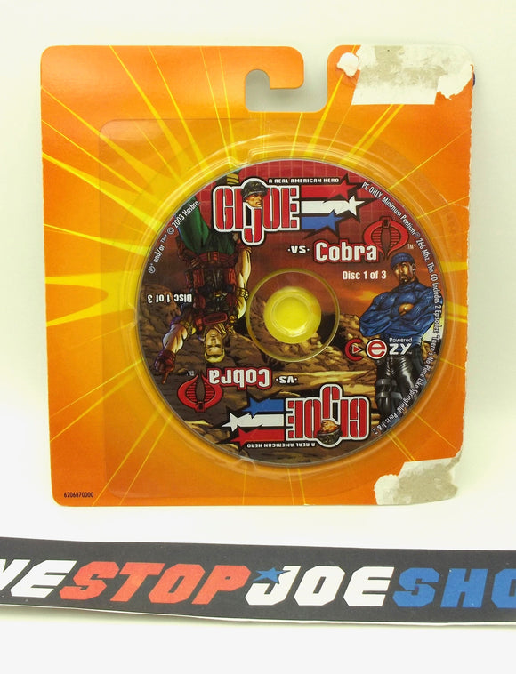 2003 G.I. JOE VS. COBRA SPY TROOPS MISSION DISC 1 OF 3 CD-ROM PC COMPUTER GAME NEW SEALED - DUKE / SHIPWRECK
