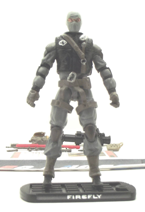 2009 ROC G.I. JOE COBRA FIREFLY V20 HEADQUARTERS FOR HEROES TRU EXCLUSIVE LOOSE 100% COMPLETE + F/C