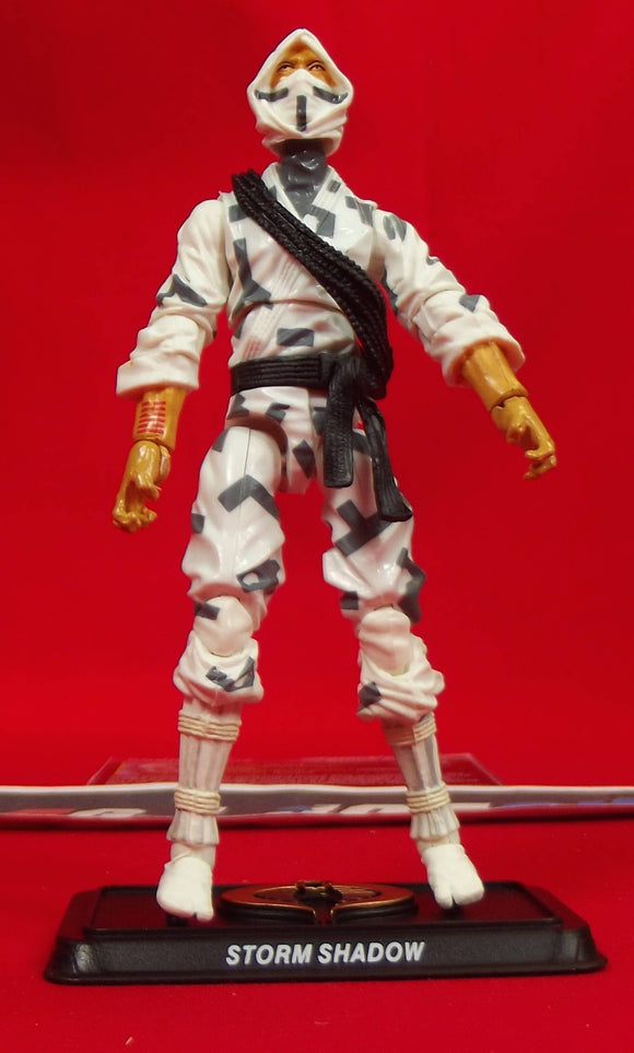 2015 50TH ANNIV G.I. JOE COBRA STORM SHADOW V50 CLASSIC CLASH PACK LOOSE 100% COMPLETE + F/C