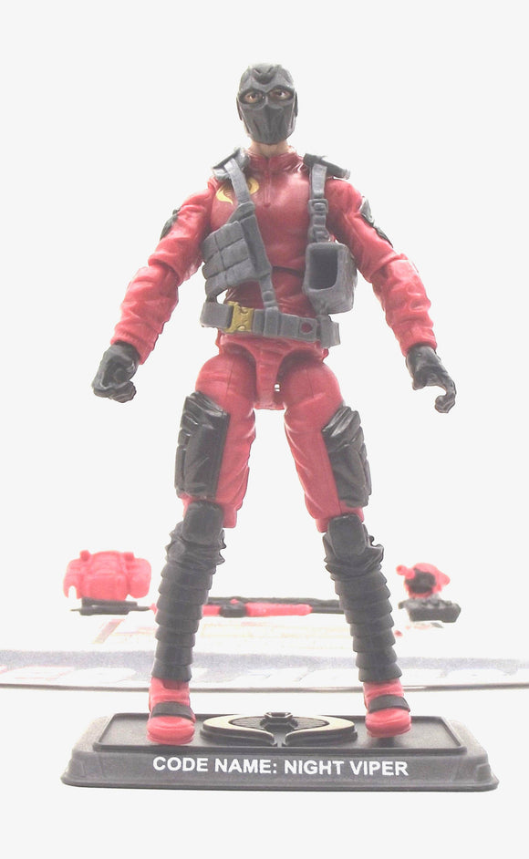 2014 50TH ANNIVERSARY G.I. JOE COBRA NIGHT VIPER V5 NIGHT MARSKMEN PACK LOOSE 100% COMPLETE + F/C