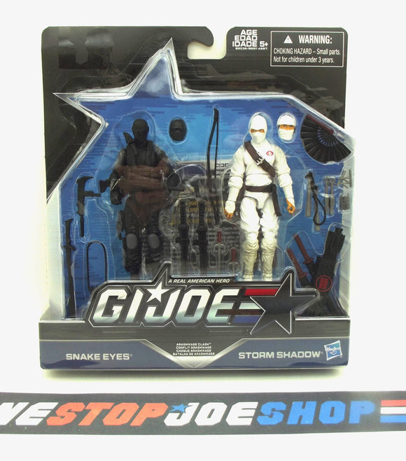 2016 50TH ANNIVERSARY G.I. JOE COBRA ARASHIKAGE CLASH PACK SNAKE EYES V54 / STORM SHADOW V41 NEW SEALED