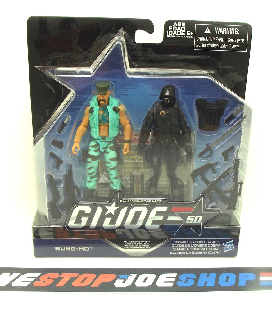 2015 50TH ANNIVERSARY G.I. JOE COBRA MARINE DEVASTATION PACK GUNG HO V21 / CRIMSON SHADOW GUARD V17 NEW SEALED