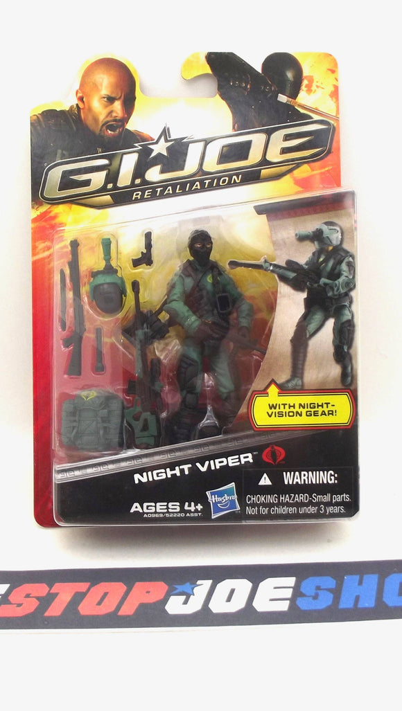 2013 RETALIATION G.I. JOE COBRA NIGHT VIPER V4 NEW SEALED
