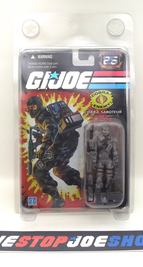 2007 25TH ANNIVERSARY G.I. JOE COBRA FIREFLY V14 WAVE 3 NEW SEALED WIDE 'DIAPER' CROTCH VARIANT (a)