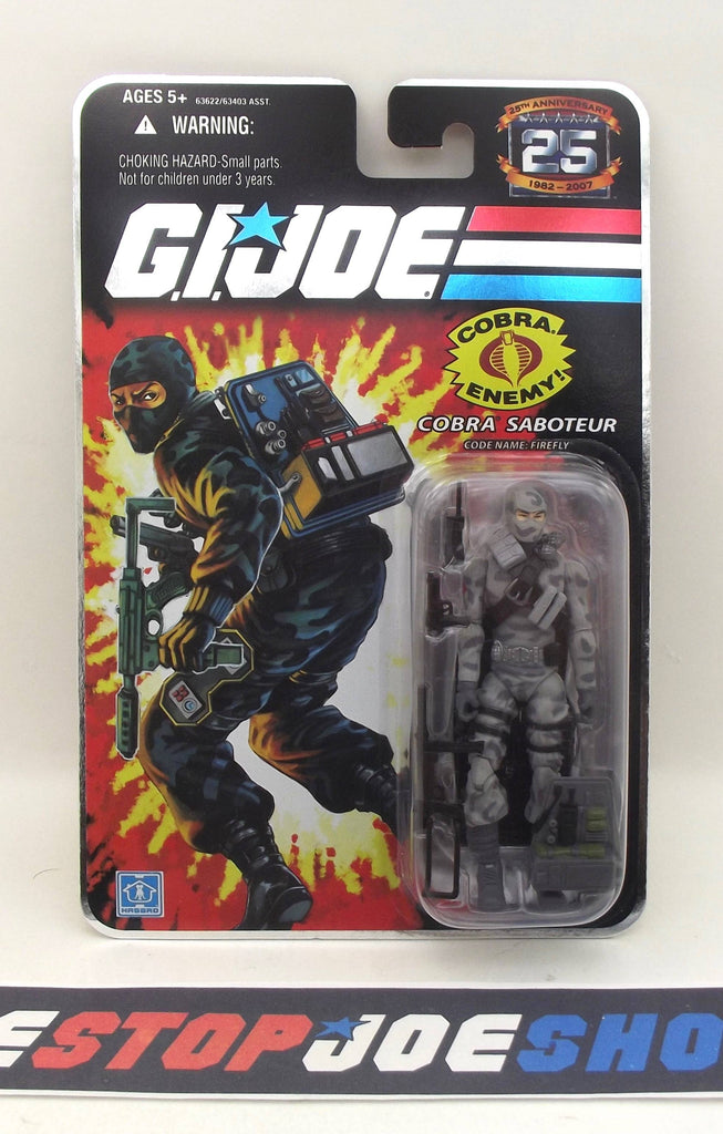 2007 25TH ANNIV G.I. JOE COBRA FIREFLY V14 WAVE 3 NEW SEALED WIDE 'DIAPER' CROTCH VARIANT (b)