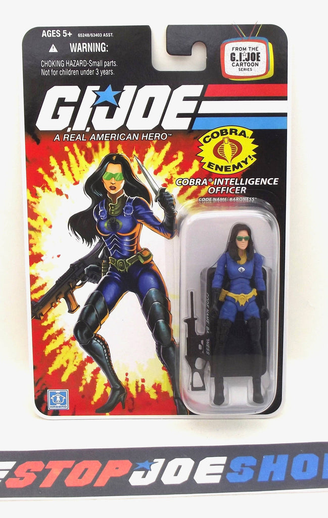 2008 25TH ANNIV G.I. JOE COBRA BARONESS V10 WAVE 8 NEW SEALED WIDE 'DIAPER' CROTCH VARIANT (b)