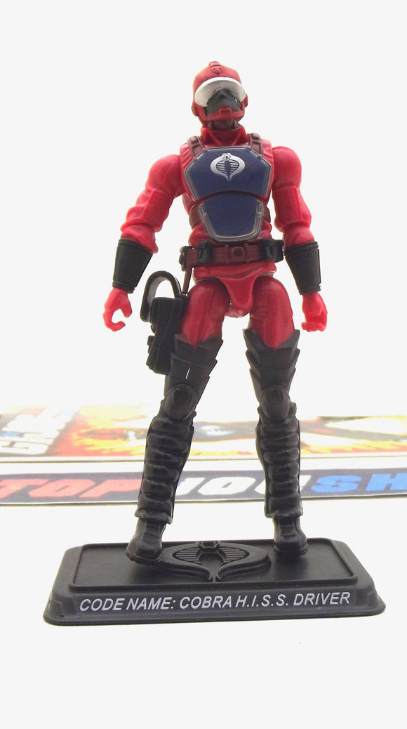 2008 25TH ANNIV G.I. JOE COBRA H.I.S.S. DRIVER V2 WAVE 7 LOOSE 100% COMPLETE + FULL CARD