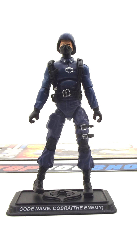 2007 25TH ANNIV G.I. JOE COBRA ENEMY TROOPER V3 WAVE 2 LOOSE 100% COMPLETE + FULL CARD W/ BACKPACK HOLE