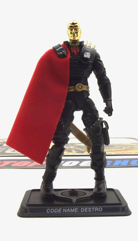 2008 25TH ANNIV G.I. JOE COBRA DESTRO V16 WAVE 5 LOOSE 100% COMPLETE + FULL CARD