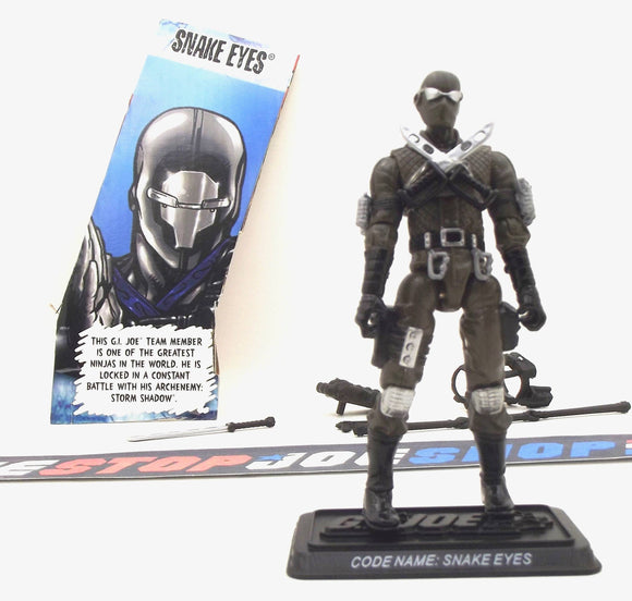 2009 25TH ANNIVERSARY G.I. JOE SNAKE EYES V39 DVD BATTLE PACK LOOSE 100% COMPLETE + F/C