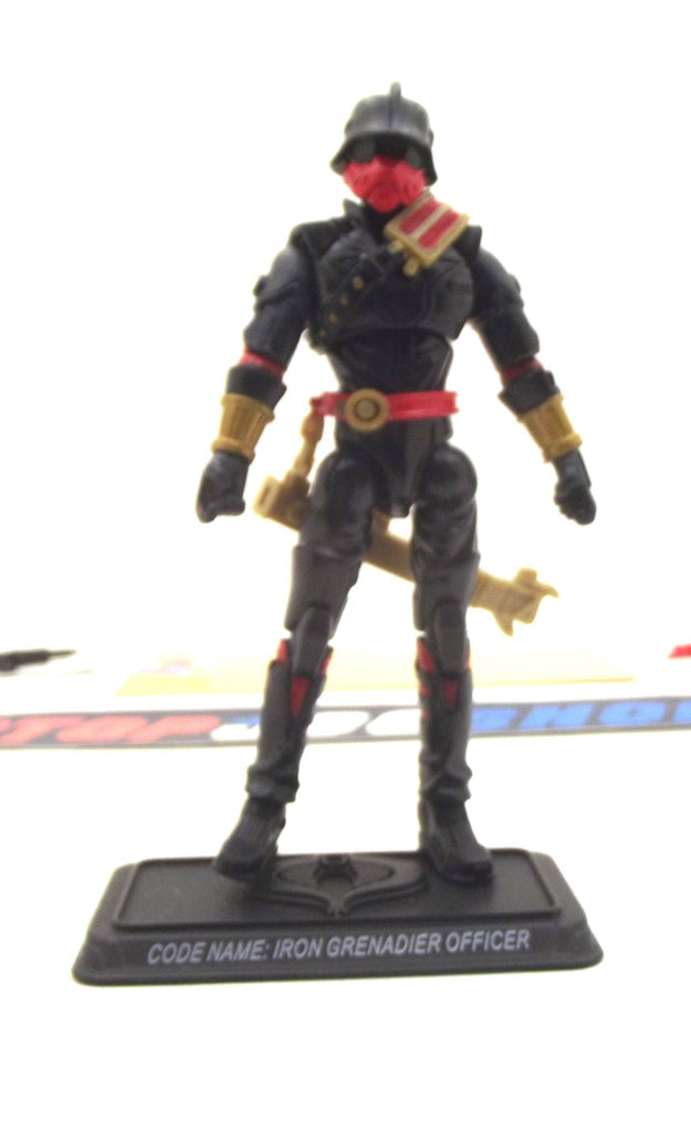 2008 25TH ANNIVERSARY G.I. JOE COBRA IRON GRENADIER OFFICER V1 IRON GRENADIER COMMAND PACK TRU EXCLUSIVE LOOSE 100% COMPLETE + F/C