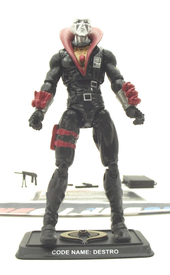2014 50TH ANNIV G.I. JOE COBRA DESTRO V29 THE EAGLE'S EDGE PACK LOOSE 100% COMPLETE + F/C