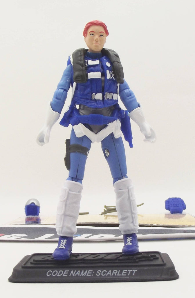 2008 25TH ANNIVERSARY G.I. JOE SCARLETT V10 WAVE 11 LOOSE 100% COMPLETE + F/C