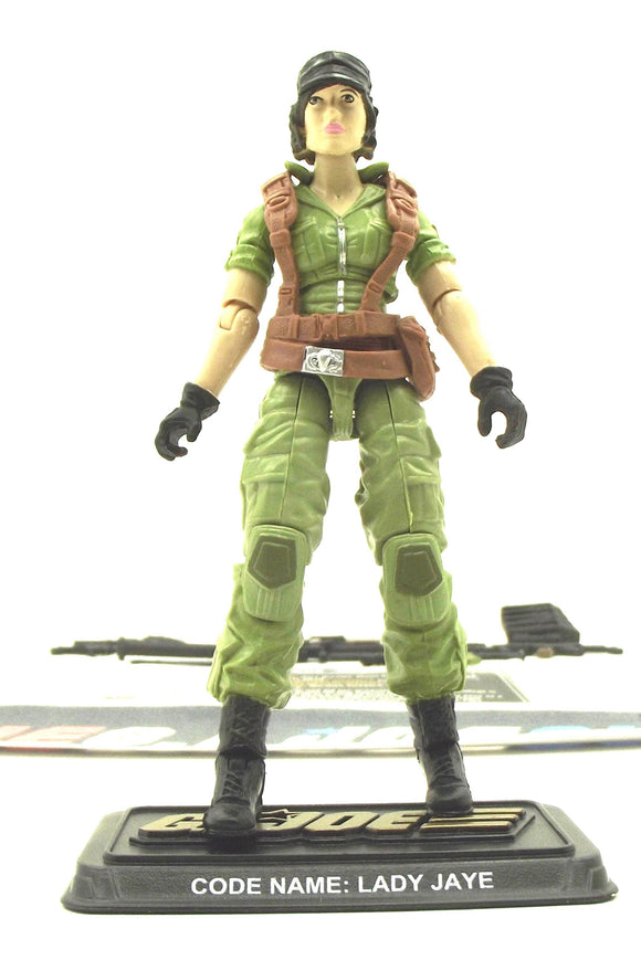 2014 50TH ANNIVERSARY G.I. JOE LADY JAYE V11 SOCIAL CLASH PACK LOOSE 100% COMPLETE + F/C