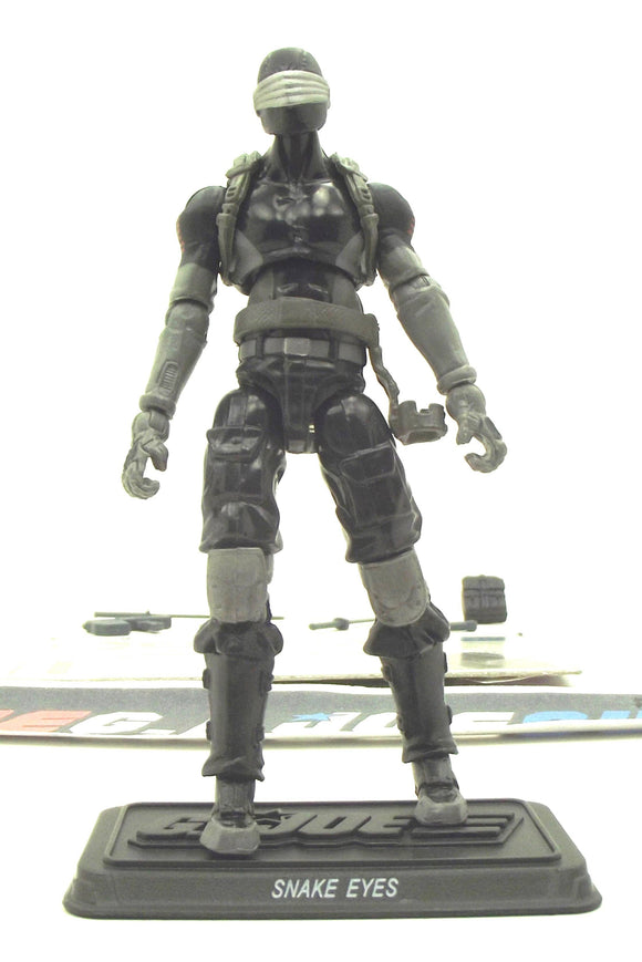 2011 30TH ANNIV G.I. JOE SNAKE EYES V56 LOOSE 100% COMPLETE + F/C