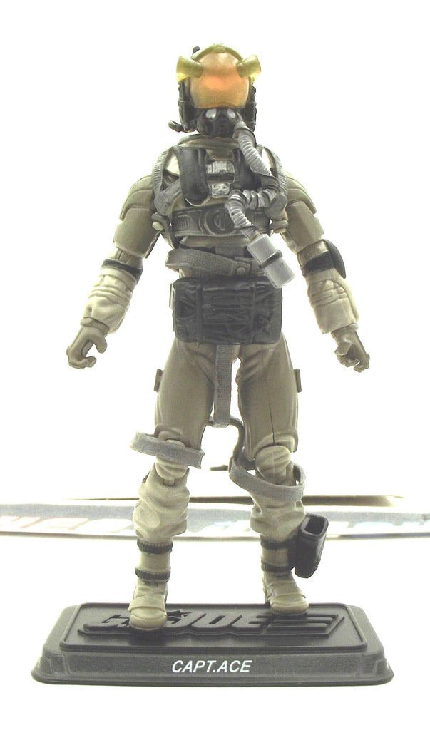 2011 30TH ANNIV G.I. JOE ACE V4 ECHO VEHICLE SKY STRIKER PILOT LOOSE 100% COMPLETE NO FILE CARD