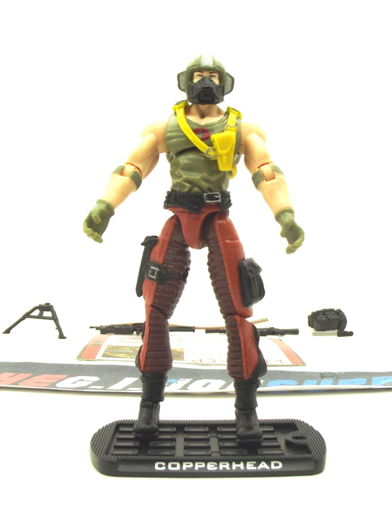 2009 ROC G.I. JOE COBRA COPPERHEAD V7 FIGURE PACK WAL-MART EXCLUSIVE LOOSE 100% COMPLETE + F/C