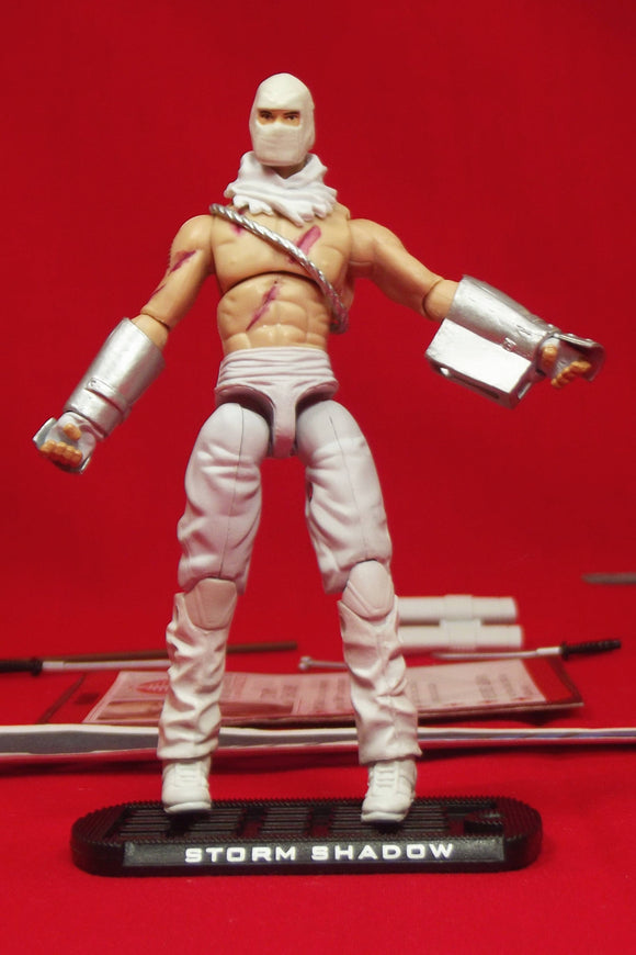 2009 ROC G.I. JOE COBRA STORM SHADOW V34A ARCTIC ASSAULT LOOSE 100% COMPLETE + F/C MASKED VARIANT