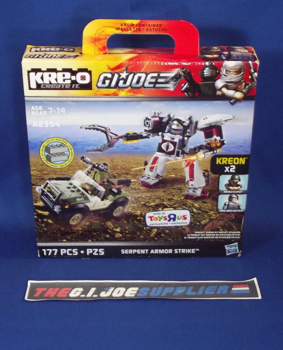 KRE-O G.I. JOE A2354 SERPENT ARMOR STRIKE SET NEW SEALED