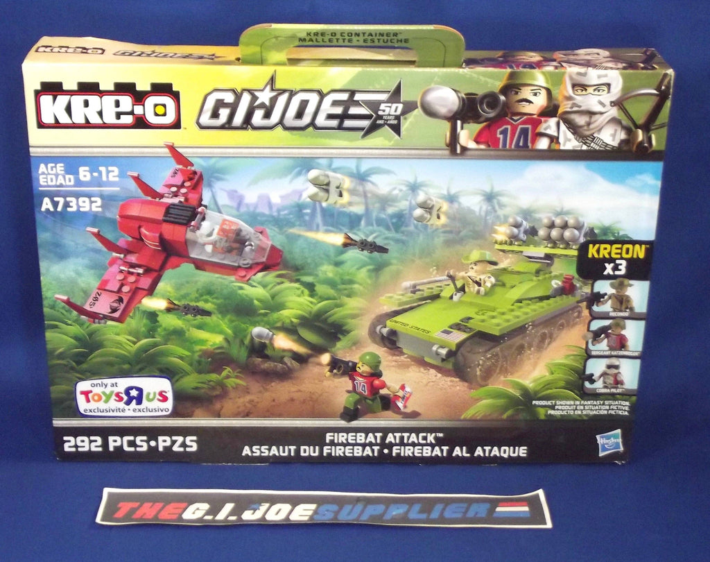 KRE-O G.I. JOE A7392 FIREBAT ATTACK SET NEW SEALED