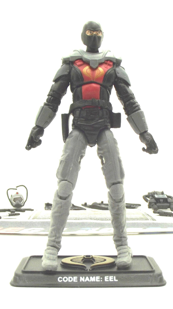 2014 50TH ANNIV G.I. JOE COBRA EEL V7B DANGER AT THE DOCKS PACK NIGHT RAFT DRIVER LOOSE 100% COMPLETE + F/C