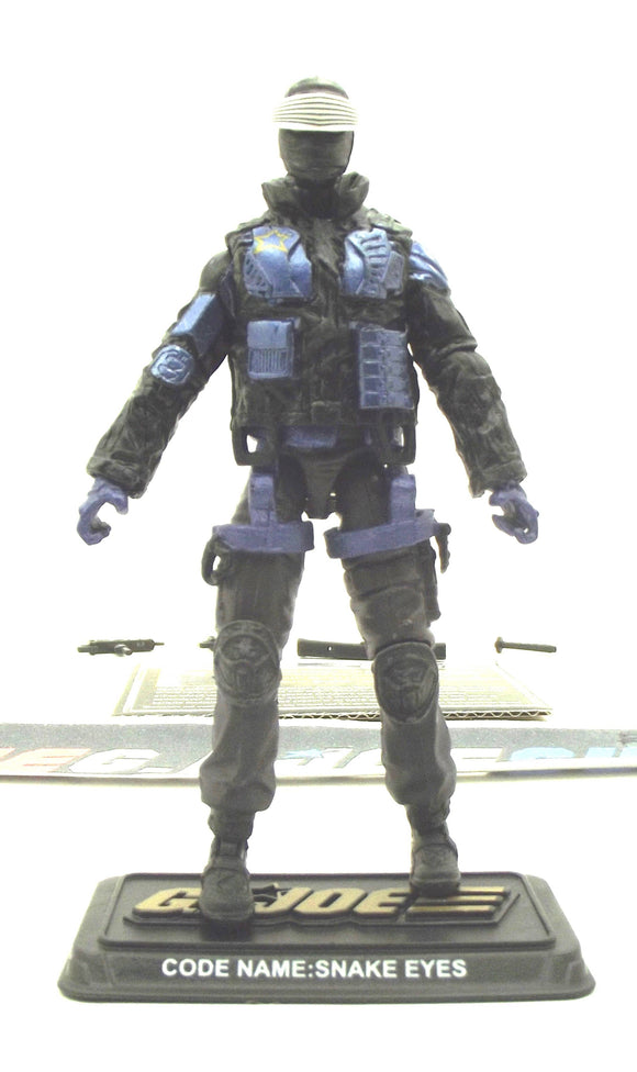 2014 50TH ANNIV G.I. JOE SNAKE EYES V68 BATTLE BELOW ZERO GHOST HAWK PILOT LOOSE 100% COMPLETE + F/C