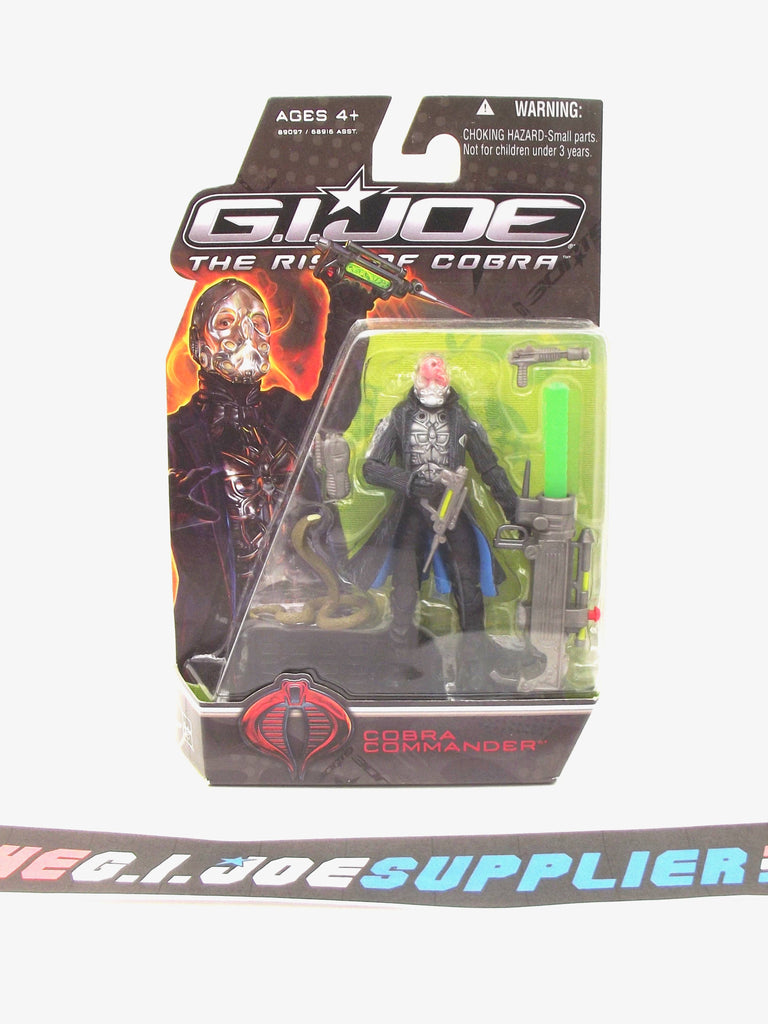 2009 ROC G.I. JOE COBRA COBRA COMMANDER V43 NEW SEALED HOLES VARIANT