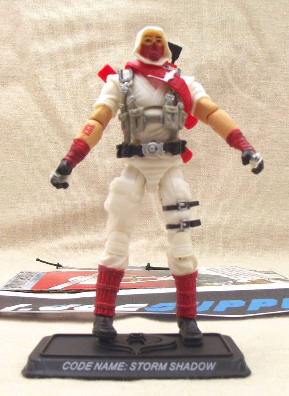 2009 25TH ANNIVERSARY G.I. JOE STORM SHADOW V29 DVD BATTLE PACK LOOSE 100% COMPLETE + F/C
