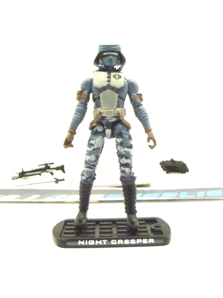 2009 ROC G.I. JOE COBRA NIGHT CREEPER V12 FIGURE PACK WAL-MART EXCLUSIVE LOOSE 100% COMPLETE + F/C