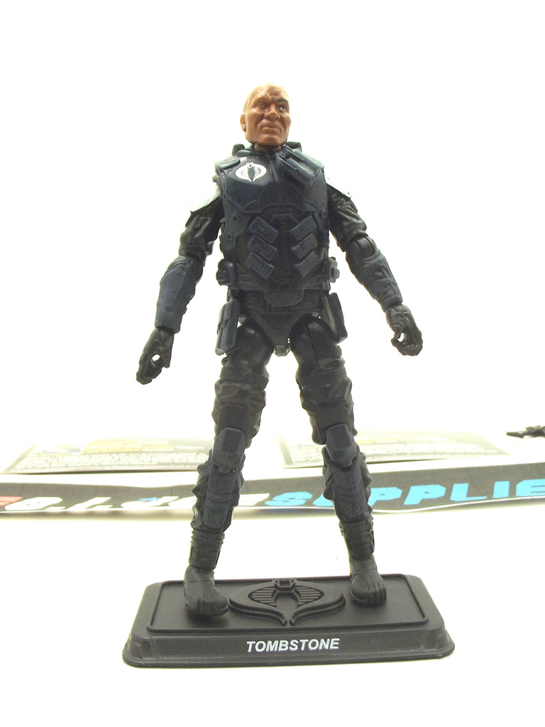 2016 50TH ANNIV G.I. JOE COBRA TOMBSTONE V1 MISSION ACCEPTED PACK LOOSE 100% COMPLETE + F/C