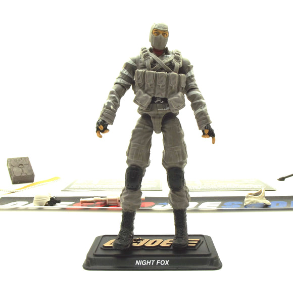 50TH ANNIVERSARY G.I. JOE COBRA NIGHT FOX V3 SDCC DESERT DUEL PACK NAVY SEAL LOOSE 100% COMPLETE + F/C