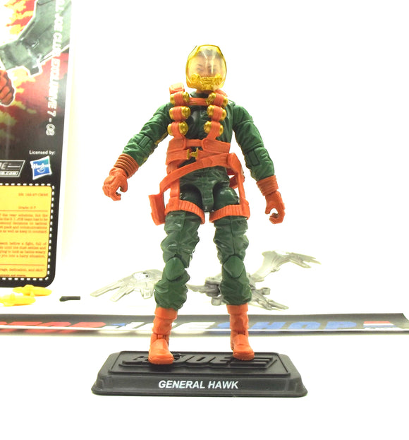 2018 FSS 7.0 G.I. JOE GENERAL HAWK V7 G.I. JOE COMMANDER GI JOE COLLECTORS CLUB EXCLUSIVE LOOSE 100% COMPLETE + FULL FILE CARD (a)