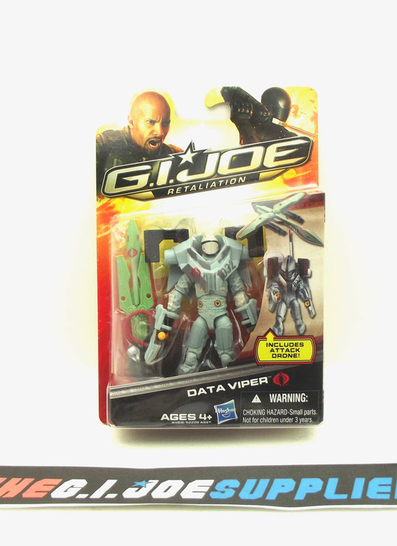 2013 RETALIATION G.I. JOE COBRA DATA VIPER V1 NEW SEALED