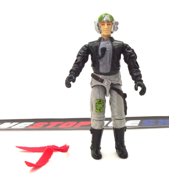 1988 ARAH G.I. JOE GHOSTRIDER V1 PHANTOM X-19 STEALTH FIGHTER PILOT LOOSE 100% COMPLETE (a)