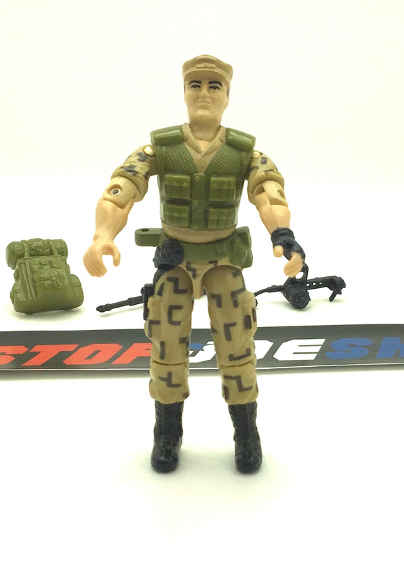 1988 ARAH G.I. JOE REPEATER V1 STEADI-CAM MACHINE GUNNER LOOSE 100% COMPLETE (b)