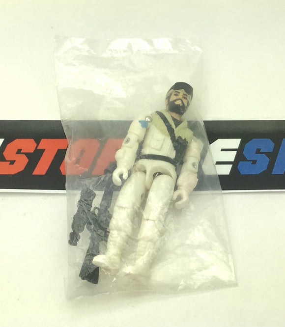 1985 VINTAGE ARAH G.I. JOE FROSTBITE V1 SNOW CAT DRIVER NEW FACTORY SEALED BAG